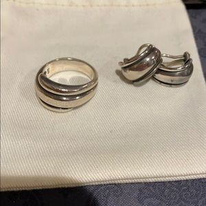 Retired James Avery ring and matching earrings